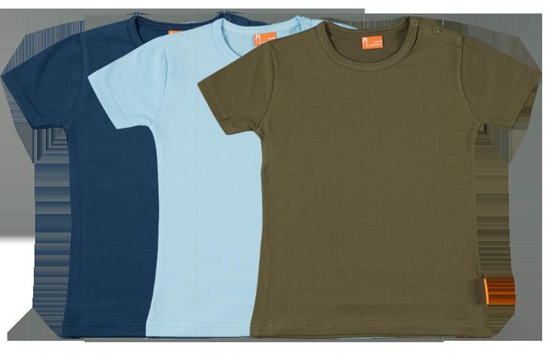 Sorprentas, Set 3 Baby T-shirts Kort dblauw, lblauw, groen