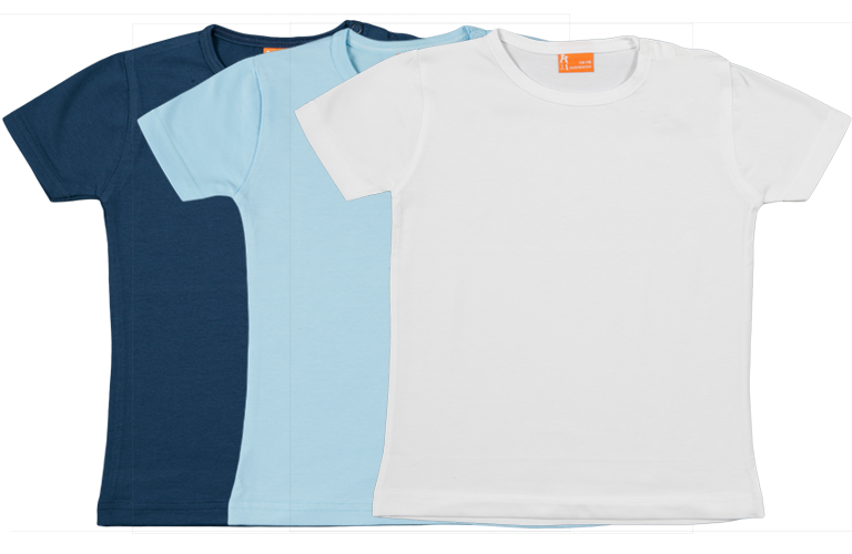 Sorprentas, Set 3 Baby T-shirts Kort dblauw, lblauw, wit