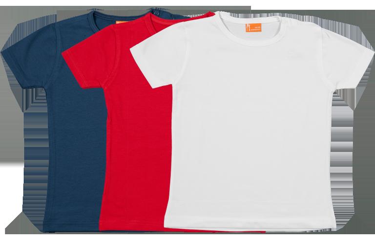 Sorprentas, Set 3 Baby T-shirts Kort, rood-wit-blauw