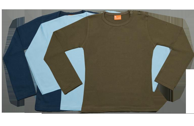 Sorprentas, Set 3 Baby T-shirts Lang dblauw, lblauw, groen