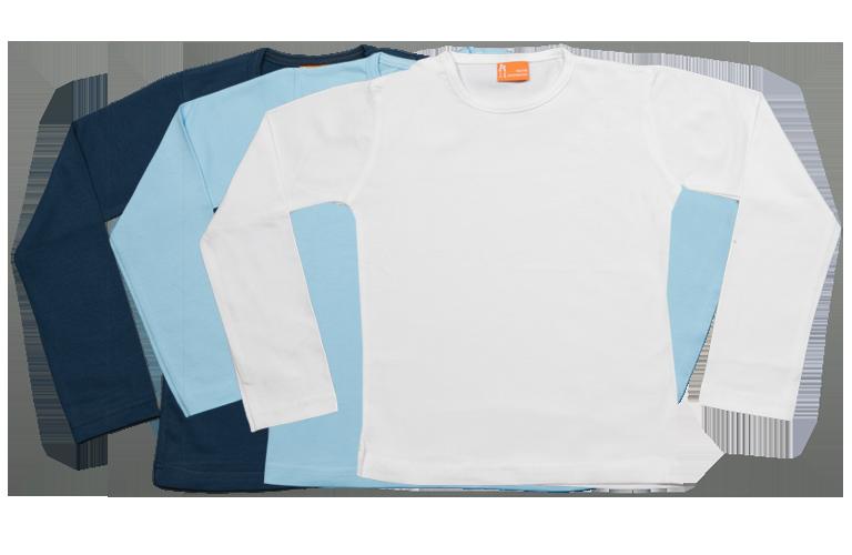 Sorprentas, Set 3 Baby T-shirts Lang dblauw, lblauw, wit