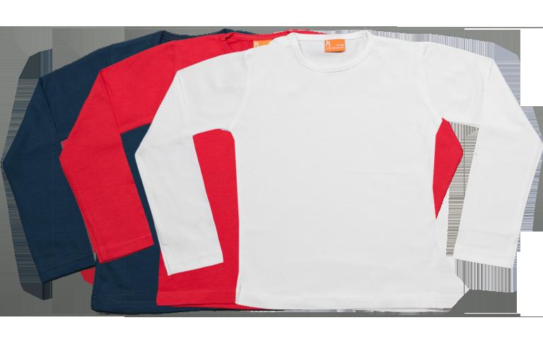 Sorprentas, Set 3 Baby T-shirts Lang, rood-wit-blauw