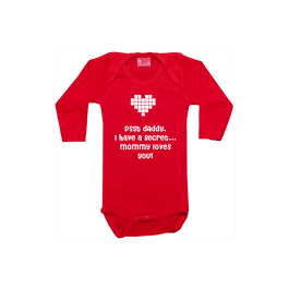 Baby bodysuit long sleeve: Valentine Surprise
