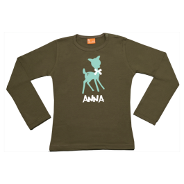 Girls t-shirt long: Deer