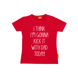 Girls t-shirt: 'Kick it' with daddy