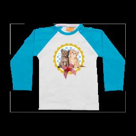Raglan t-shirt: Two kittens