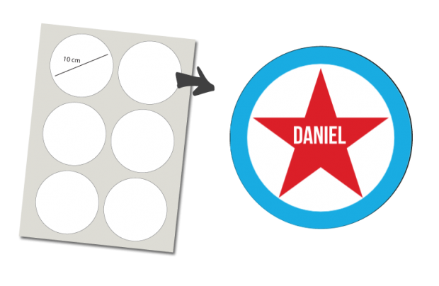 Stickers Round 6 items: Star