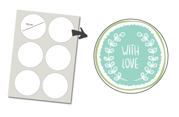 Stickers Round 6 items: With Love