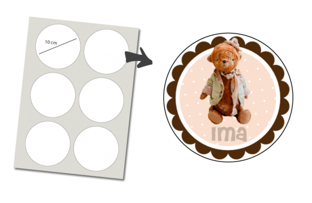 Stickers Round 6 items: Teddy Bear