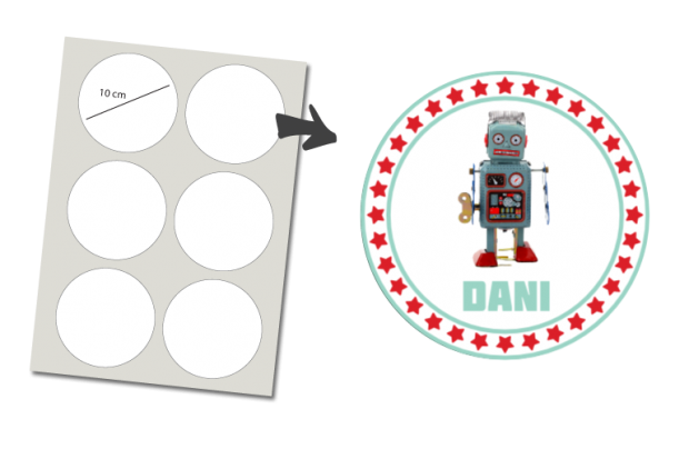 Stickers Round 6 items: Robot