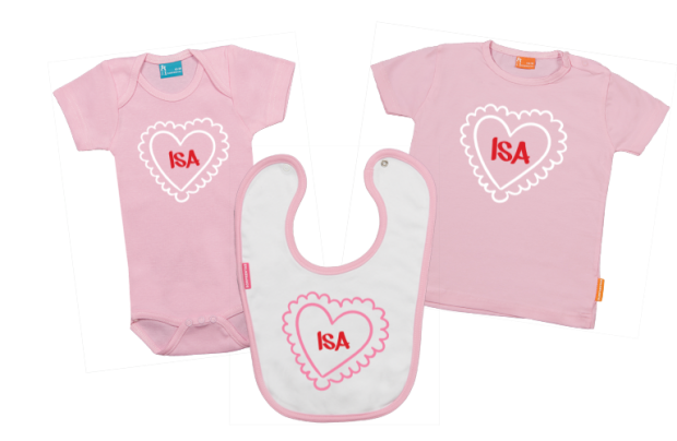 Baby Gift Set A: Heart