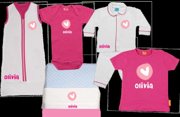 Baby Gift Set E: Round Heart
