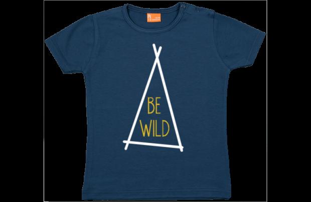 Baby t-shirt: Be Wild (tent)