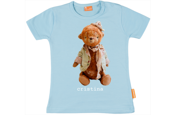 Baby t-shirt: Teddybear with hat
