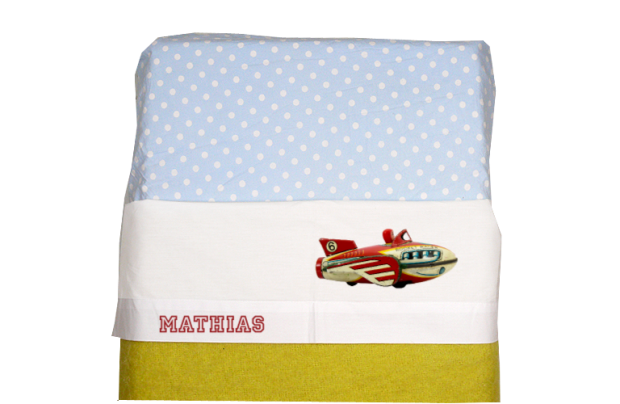 Sheet for baby cot (white): Antique Fly Machine