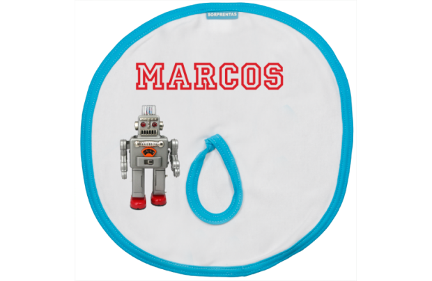 Pacifier cloth: Robot
