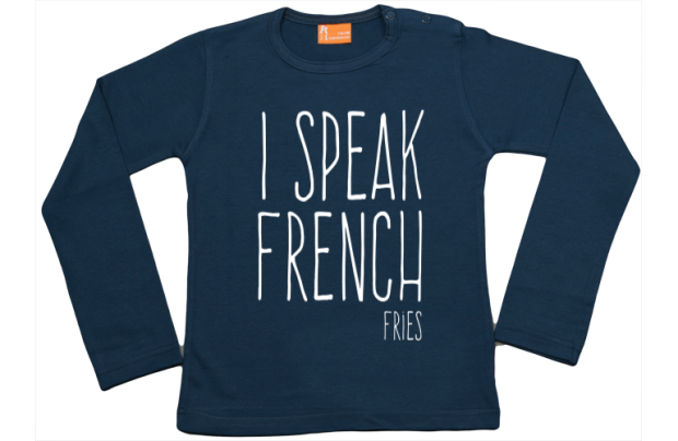 Girls t-shirt long: I speak French Fries