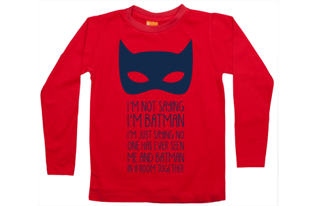 Boys t-shirt long: I am not Batman