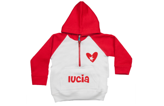 Hoodie raglan: Heart with star
