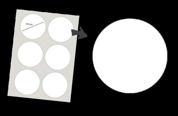 Stickers Rond 6 stuks: Ontwerp zelf