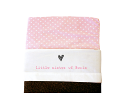 Sheet for baby cot (white): Little sister of