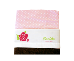 Sheet for baby cot (white): Rose