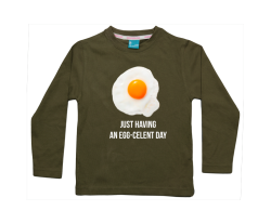 Boys t-shirt long: Having an egg-celent day