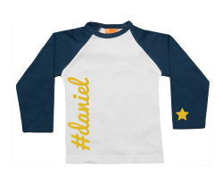 Raglan t-shirt: Twitter # Name
