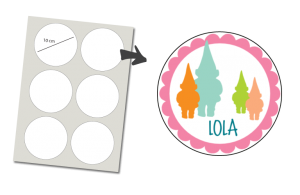 Stickers Round 6 items: Gnome