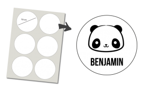 Stickers Round 6 items: Panda