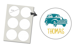 Stickers Round 6 items: Classic Car