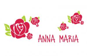 Wall/Door stickers Wide: Rose