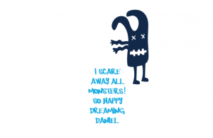 Wall/Door stickers Long: I scare monsters away