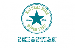 Wall/Door stickers Square: Natural Born Superstar