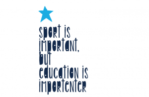 Wall/Door stickers Square: Sport importanter
