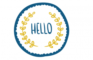Wall/Door stickers Square: Hello