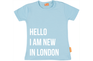 Baby t-shirt: Hi, I'm new in town