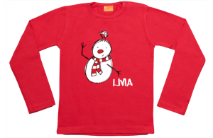 Girls t-shirt long: Snowdoll with bird