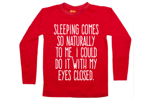 Boys t-shirt long: Sleeping is easy