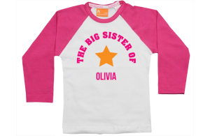 Raglan t-shirt: Big Sister
