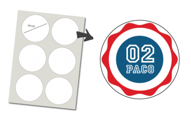 Stickers Round 6 items: Number and Name