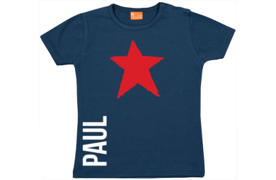 Baby t-shirt: Star and name