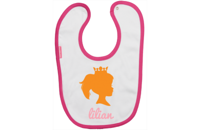 Baby Bib: Little girl with a crown
