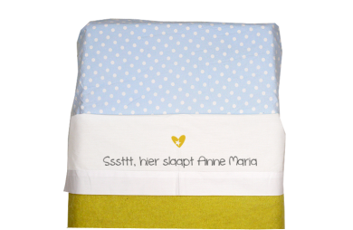 Sheet for baby cot (white):