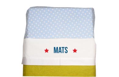 Sheet for baby cot (white): Two little stars