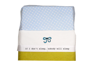 Sheet for baby cot (white): If I don't sleep