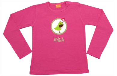 Girls t-shirt long: Bird in circle
