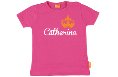 Girls t-shirt: Name with Crown