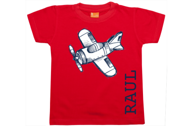 Boys t-shirt: Airplane and Name