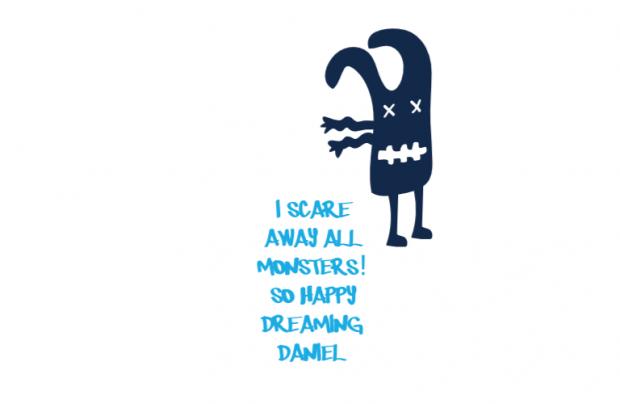Adhesivo Pared/Puerta Alto: Ahuyento a los monstruos